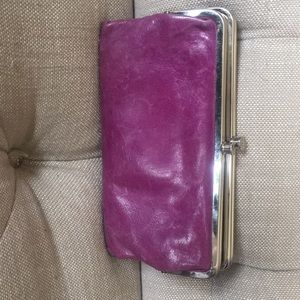 Purple leather Hobo wallet